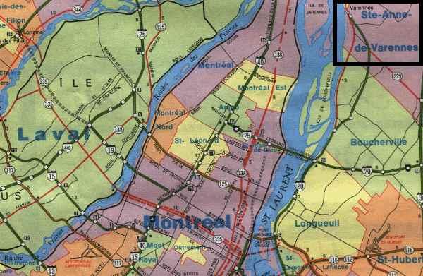 Indications pour se rendre à Varennes/Itinerary to Varennes (Québec ...